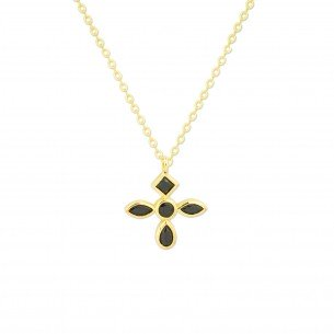 Gargantilla Noir Cross Gold